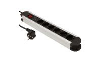 Steckdosenleiste McPower ''SL-06'' 6-fach, Überspannungsschutz, 1,4m Zuleitung