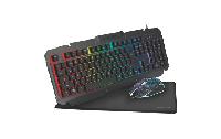 PC Gaming Set, Tastatur, Maus und Mauspad, LED Beleuchtung,