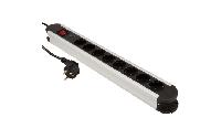 Steckdosenleiste McPower ''SL-08'' 8-fach, Überspannungsschutz, 1,4m Zuleitung