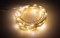 LED Draht-Lichterkette McShine ''Micro'' 100 LEDs, warmweiß, Batteriebetrieb