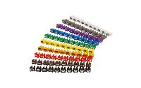 Kabelmarker-Clips McPower, bedruckt mit Ziffern 0-9, Kabeldurchmesser bis 3mm