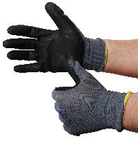 Montage-Feinstrickhandschuhe, Größe 10/XL, grau, 13G-Trägermaterial, Nitril