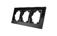 Glas-Rahmen McPower ''Flair'', 3-fach, schwarz