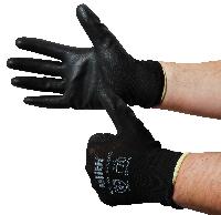 Montage-Feinstrickhandschuhe, Größe 8/S, schwarz