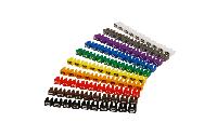 Kabelmarker-Clips McPower, bedruckt mit Ziffern 0-9, Kabeldurchmesser bis 4mm