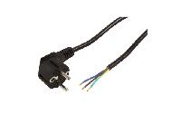Schutzkontakt Netzkabel McPower mit blanken Enden, 3x 0,75mm², 2m, schwarz