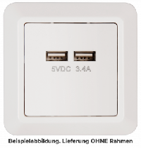 USB-Ladedose McPower ''Cup'', 2-fach, 5V / 3,4A, UP, weiß