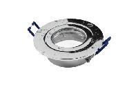 Einbaurahmen McShine ''DL-54'' rund, Clip-Verschluss, IP44, Chrom