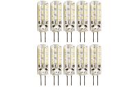 LED-Stiftsockellampe McShine ''Silicia'', G4, 1,5W, 120lm, warmweiß, 10er-Pack